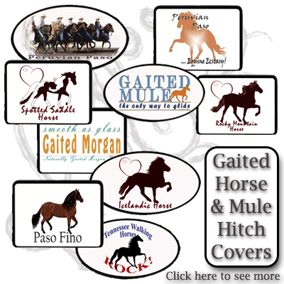 gaited horse and gaited mule trailer hitch covers
