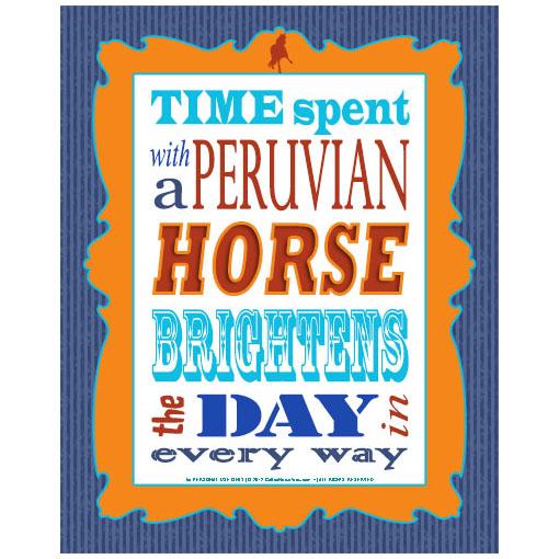 peruvian horse subway word art free printable