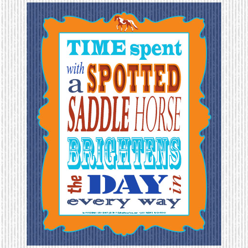 spotted saddle horse free print and frame word art