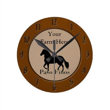 Personalized Paso Fino Clocks