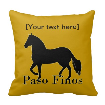 Paso Fino throw pillow to personalize to match your decor